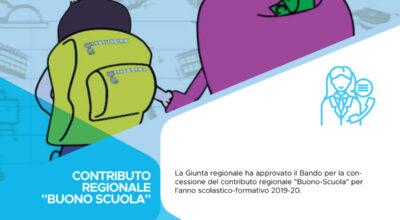 """Contributo regionale """"Buono-Scuola"""" – Anno scolastico-formativo 2019-2020"""