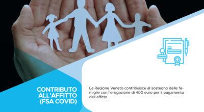 Regione del Veneto – Contributo all'affitto per emergenza COVID-19 (FSA COVID)
