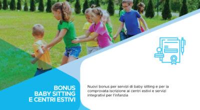 Bonus Baby Sitting e Bonus iscrizione ai centri estivi e servizi integrativi per l'infanzia