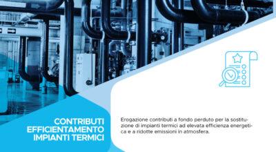 Bando per la concessione di contributi per l'efficientamento di impianti termici 2020