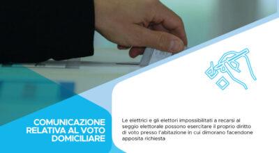Consultazioni elettorali del 20 e 21 settembre 2020: voto domiciliare per gli elettori affetti da infermità che ne rendano impossibile l'allontanamento dall'abitazione in cui dimorano