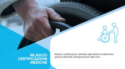 Rilascio certificazioni mediche