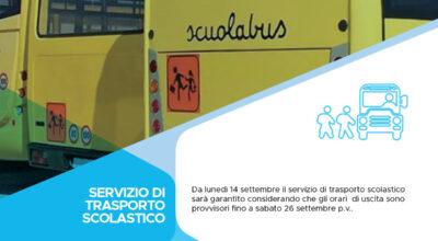Servizio di trasporto scolastico
