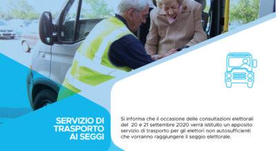 Avviso servizio di trasporto gratuito ai seggi per gli elettori anziani e disabili