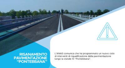 "Veneto, ANAS: risanamento pavimentazione statale 13 ""Pontebbana"""