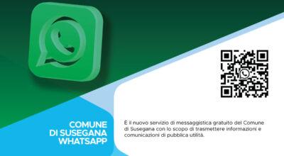 È attivo il servizio di messaggistica Whatsapp