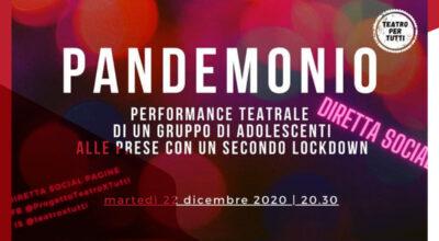 Pandemonio – Performance teatrale di un gruppo di adolescenti alle prese con un secondo lockdown