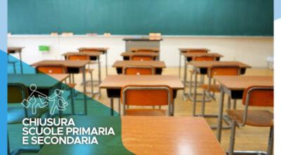 Chiusura delle scuole primaria e secondaria