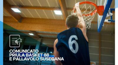 Comunicato del ASD Priula Basket 88 e ASD Pallavolo Susegana