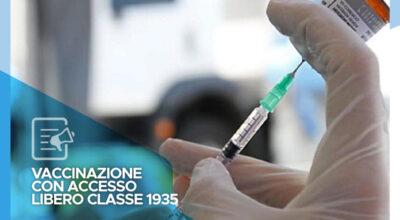 Vaccinazione con accesso libero – Convocati per sabato 3 aprile i nati nel 1935