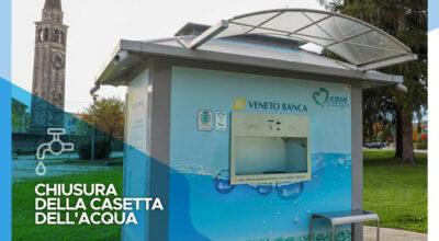 Chiusura della casetta dell'acqua di Susegana